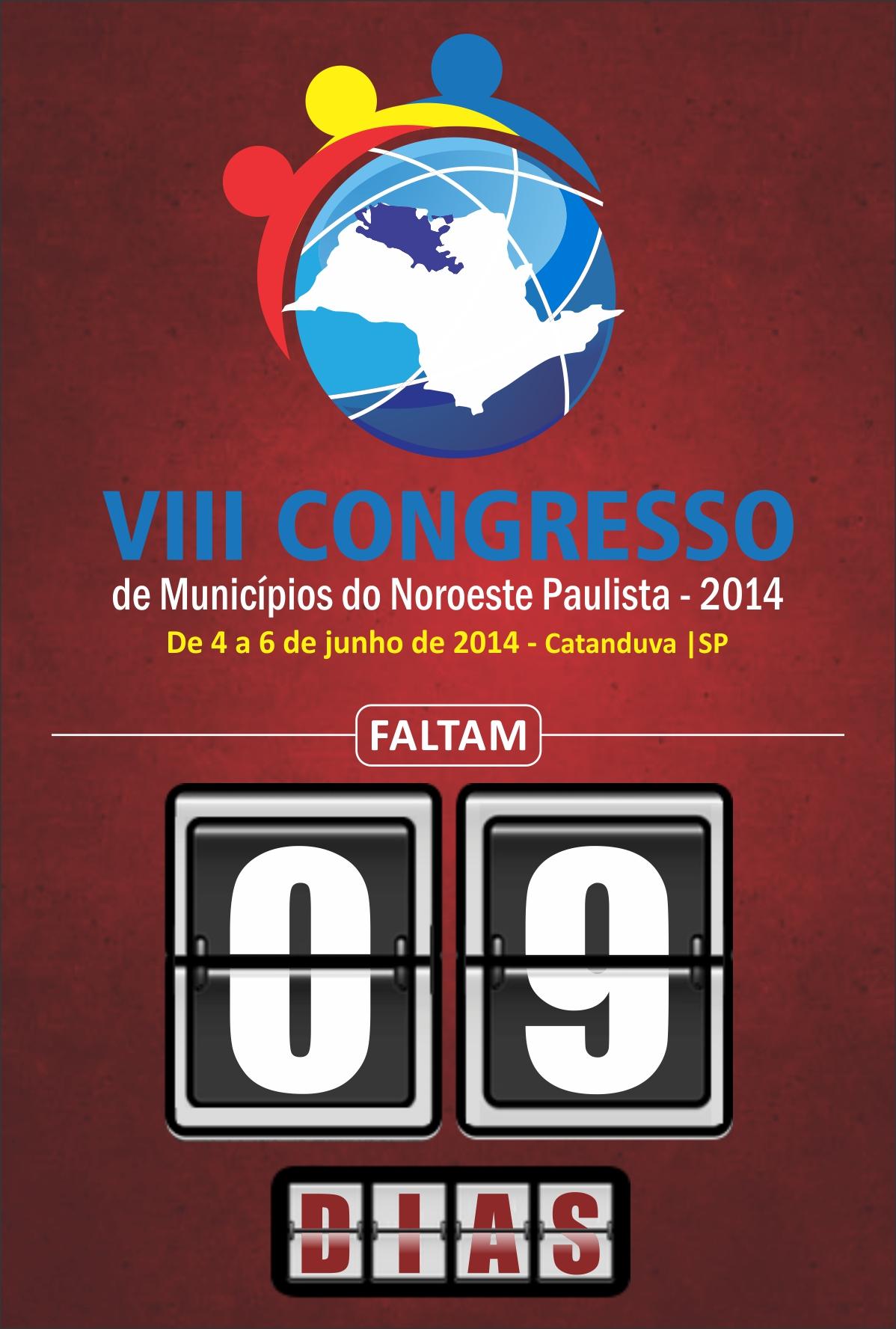 VIII CONGRESSO - CONTAGEM REGRESSIVA