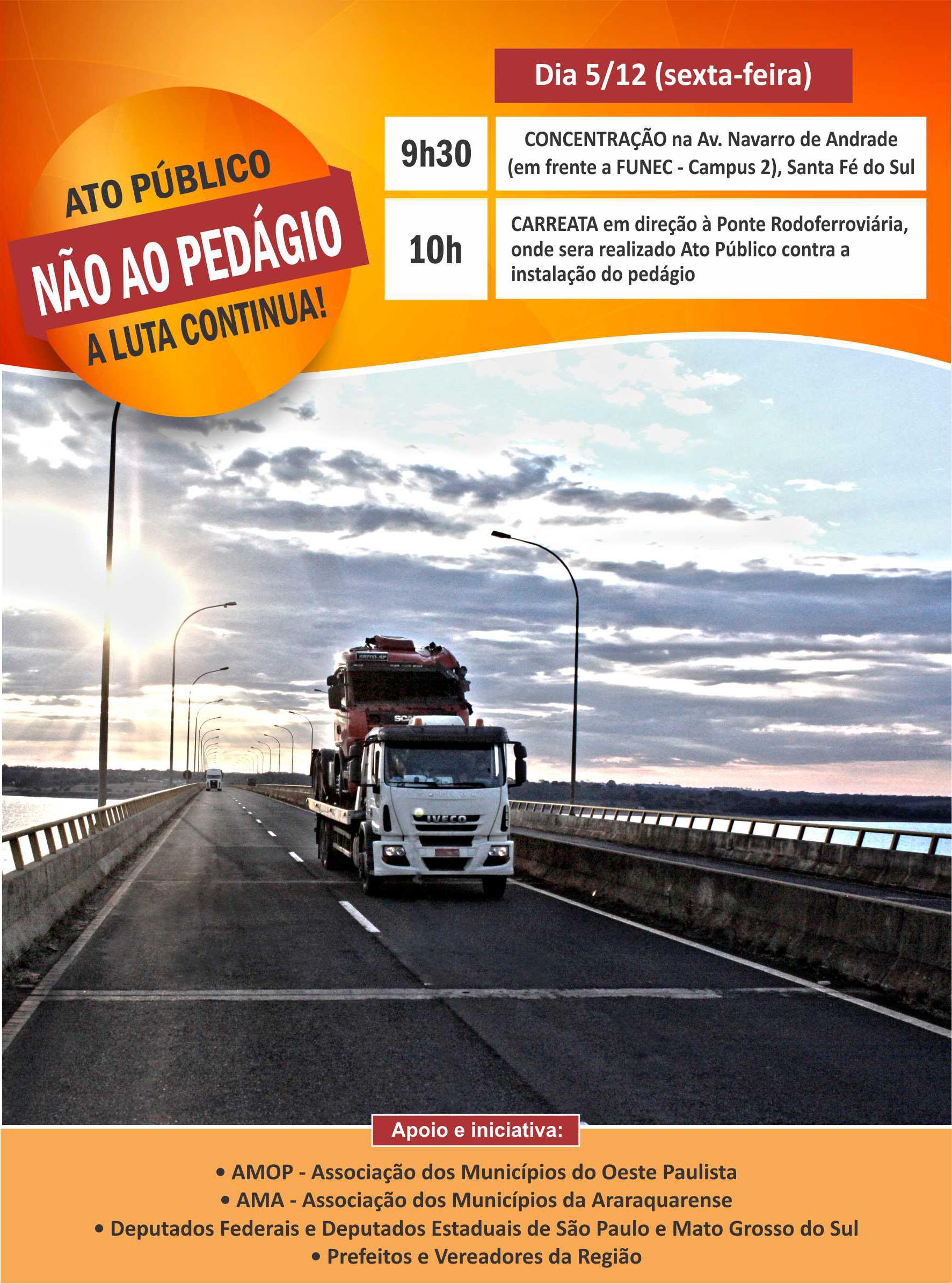 AMA ENTRA NA LUTA CONTRA O PEDÁGIO NA PONTE RODOFERROVIÁRIA DO RIO PARANÁ